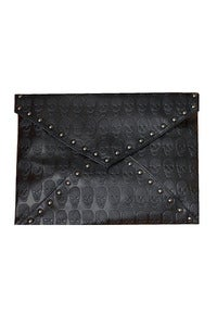 Image of Black ((AMORE)) Skulls Black Clutch / Shoulder Bag