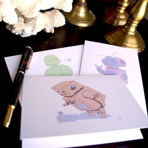 Image of Robot Greeting Card Set