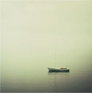 Image of Foggy sailboat