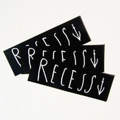 Image of Recess sticker 3 pack