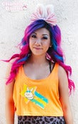 Image of Shooting Star Bunny Oversized Tank Top (Neon Orange)