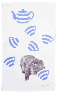Image of Tea towel - cuppa wombat