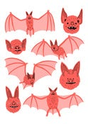 Image of Bats - A3 Risograph Print