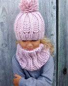 Image of Kit tricot bonnet &quot;Sacha&quot; &amp; col &quot;Joy&quot;