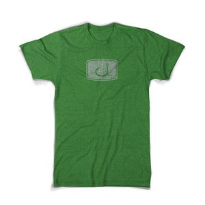 Image of Distressed Iconic T-Shirt - Heather Green