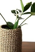 Image of Covered Vase -Jute