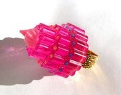 Image of Shocking Pink Birthday Cake resin ring