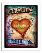 "Image of 8x10"" Paper Print - Hearts & Headlines - A Terrifying Thrill Ride"
