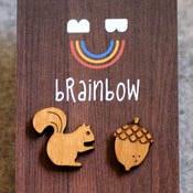 Image of Wooden Squirrel Earring