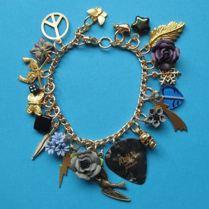 Image of Dark Days Plectrum Charm Bracelet
