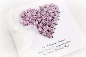 Image of wedding heart in lilac gift boxed