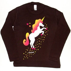 Image of UNICORN T-SHIRT BROWN