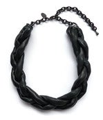 Image of Black Covered Chain Braid