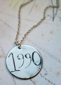Image of Personalised Circular Enamel Number Necklace