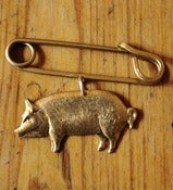 Image of Brass Pig Pin