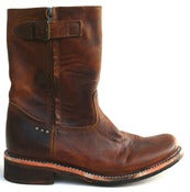 Image of No.0030 HIGHWAY side zip boot Tan