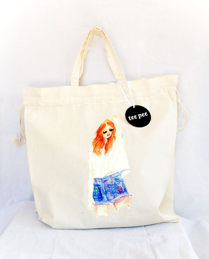 Image of Tee Pee Summer Girl Bag Drawstring