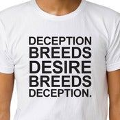 Image of DECEPTION BREEDS DESIRE BREEDS DECEPTION T-shirt