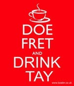Image of Doe fret and Drink Tay - Poster and Mug