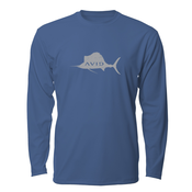 Image of Distressed Sailfish AVIDry L/S - Navy