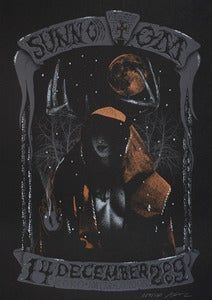 Image of Sunn O))) & Om - London 2009 - Silkscreen Poster