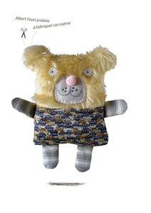 Image of Albert l'ours polaire/kit doudou