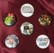 "Image of Bobby Joe Ebola 1"" Pinback Buttons"