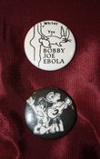 "Image of Bobby Joe Ebola 1 1/2"" Pinback Buttons"