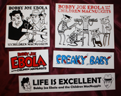 Image of Assorted Bobby Joe Ebola Vinyl Stickers