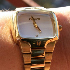 Image of A Gold Nixon Player Watch