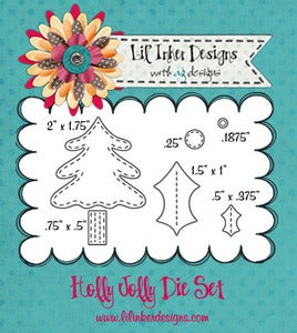 Image of Holly Jolly Dies & Stamp Set