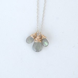 Image of Gold & Silver Mix~ LABRADORITE NECKLACE