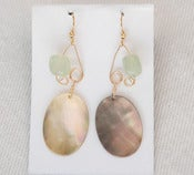 Image of fish lure inspired abalone shell & sea green in Gold