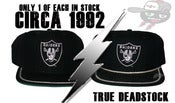 Image of Rare Los Angeles Raiders New Era Snapback Hat Cap Circa 1992 W/or W/O Rope