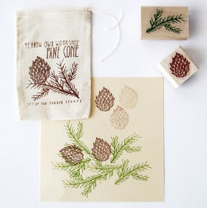 Image of Pinecone Stamp Set by Yellow Owl Workshop