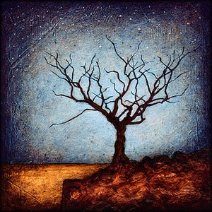"Image of 12x12"" Panel Print - Horizon Series - Dormant Tree 1"