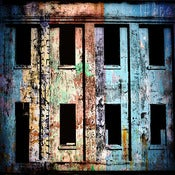 "Image of 12x12"" Panel Print - Photo Series - Angel Island Windows 1 Blue"