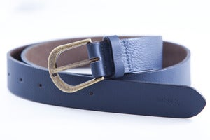 Image of Ash Blue 'Regular' Leather Belt