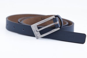 Image of Ash Blue 'Slim Jim' Leather Belt