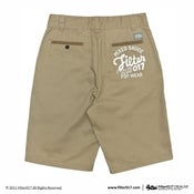 Image of Filter017 Embroidery Work Shorts_Khaki