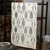 Image of Owls of the British Isles tea towel