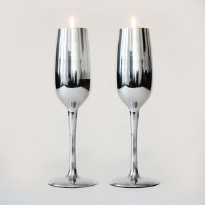 Image of Champagne Flute Tealight Holder (Pair)