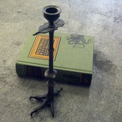 Image of brass claw candlestick - L
