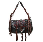 "Image of The ""Janis Joplin"" - Black & Red Purse"
