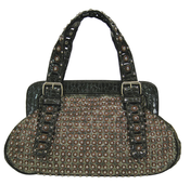 "Image of The ""Led Zeppelin"" - Black Studded Handbag"