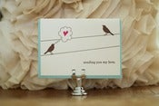 "Image of Birds on a Wire: ""sending you my love"" card"