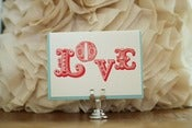 Image of &quot;Love&quot; Ornamental Type Card
