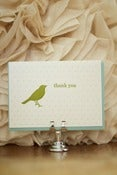 Image of Bird &amp; Polka-dot Thank You Card