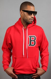 Image of Letterman B Hoodie Red