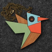 Image of Geometric Hummingbird Necklace